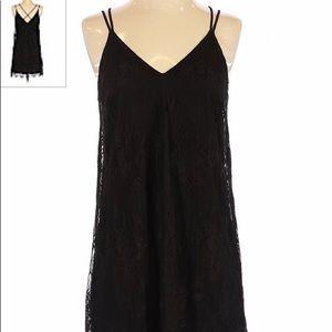 Black Lush Slip Dress